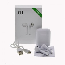 Беспроводные BLUETOOTH наушники I11 AirPods IOS+Android Retail box